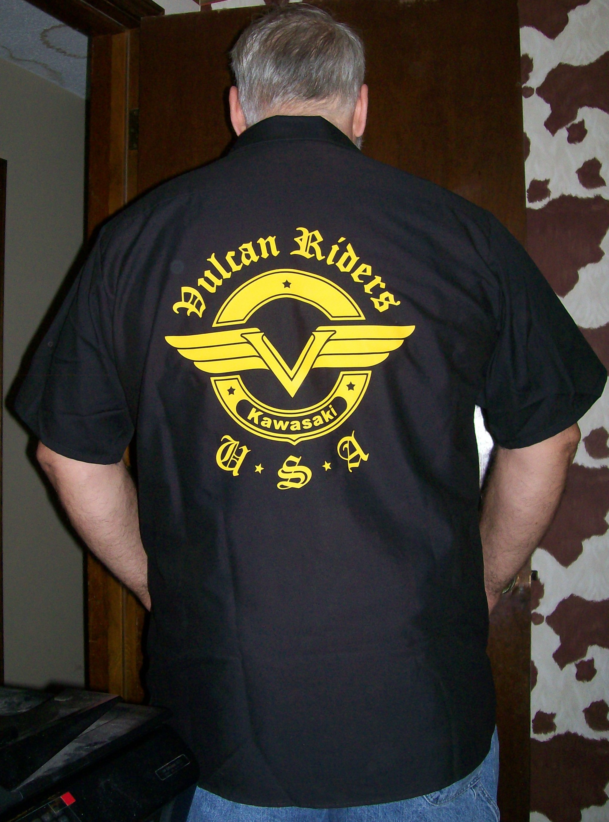 Vra apparel vulcan riders association usa good friends for Mechanic shirts with logo