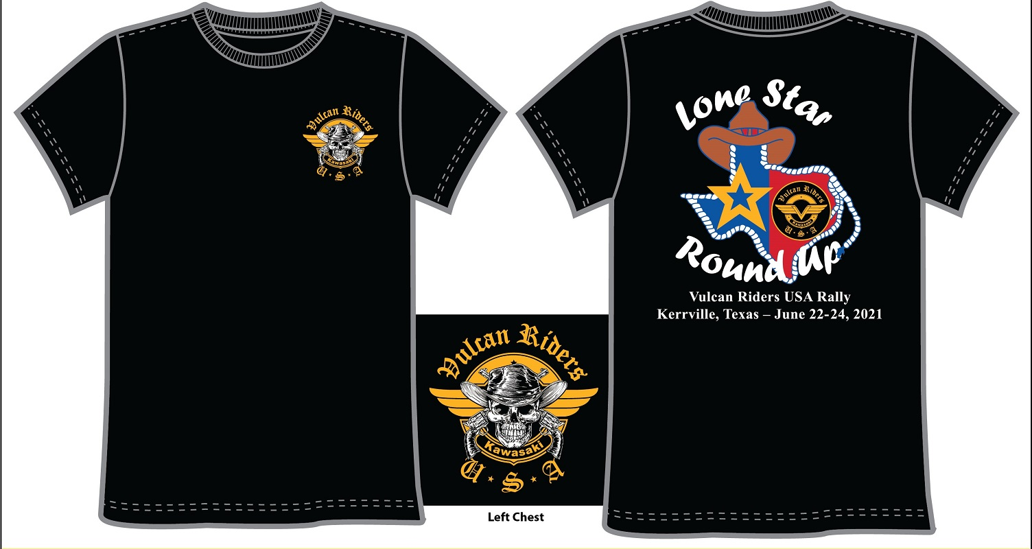 2021 - EAST RALLY, Lone Star Round Up T-Shirt