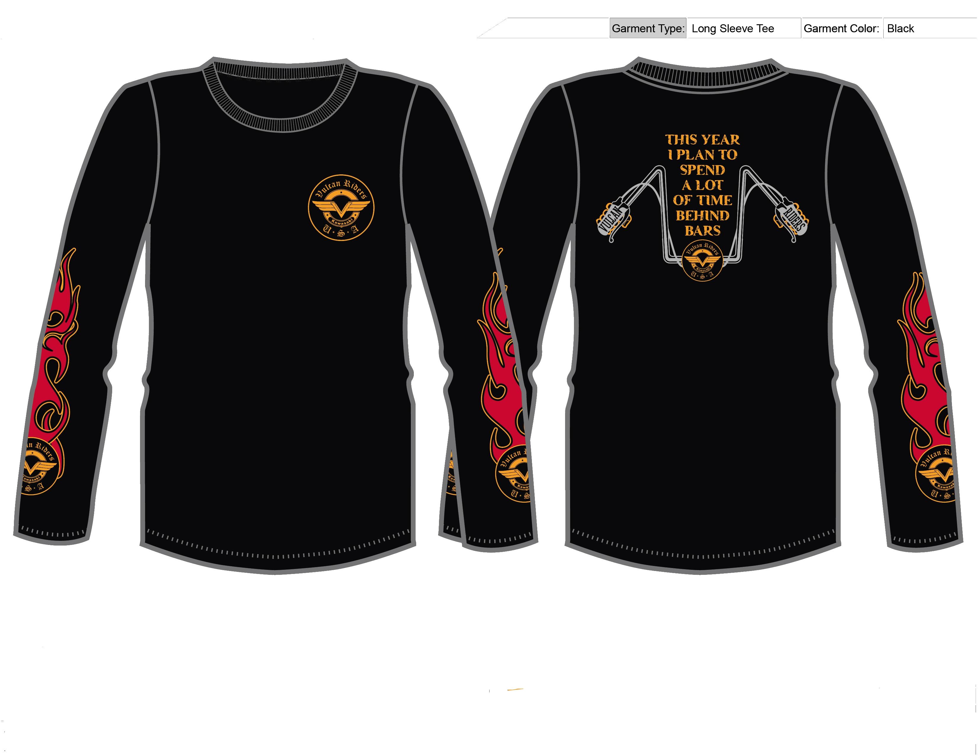 Behind Bars Logo Shirts Vulcan Riders Association Usa Good